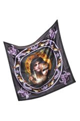 Givenchy Black Print Silk Square Scarf - Lyst