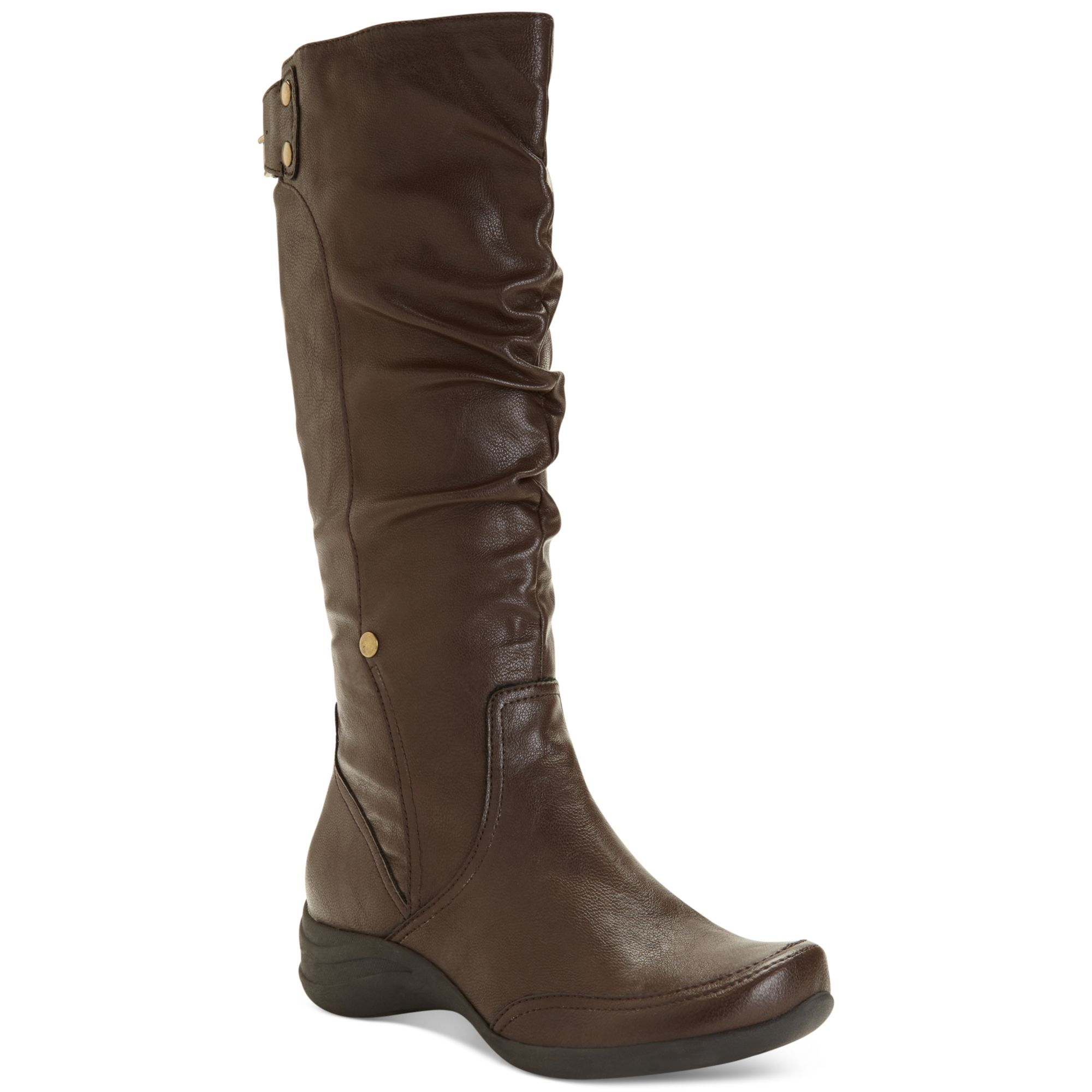 hush puppies 174 alternative wide calf boots in brown
