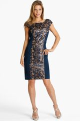 Js Collections Lace Panel Sheath Dress - Lyst