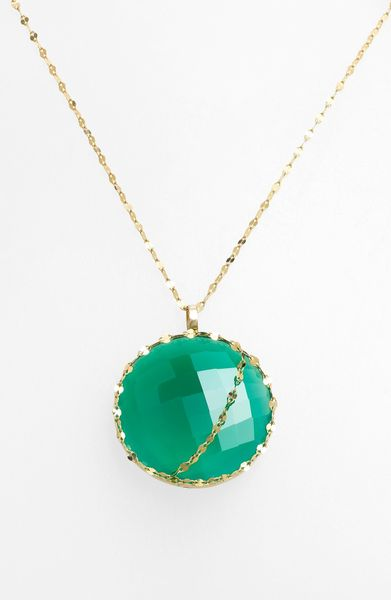 Lana Jewelry Spellbound Glow Pendant Necklace in Green (Yellow Gold/ Green Onyx) - Lyst