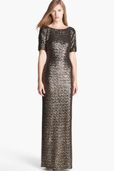 Laundry By Shelli Segal Sequin Gown - Lyst
