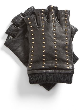 Michael by Michael Kors Studded Fingerless Gloves - Lyst