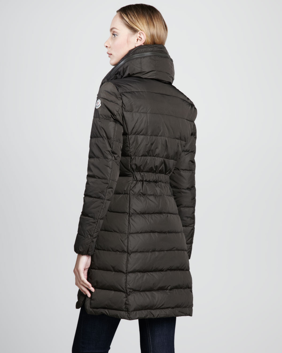 moncler flammette high-neck puffer coat