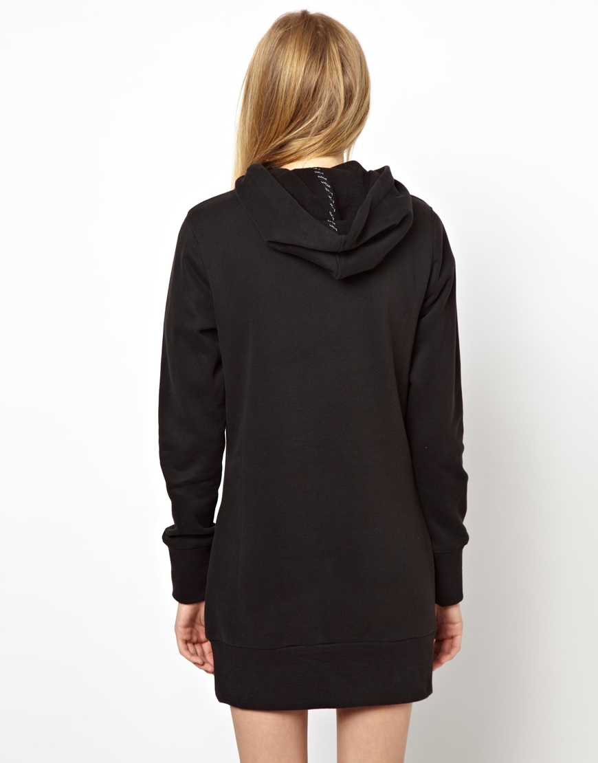 Puma Hoodie Dress In Gray | Lyst