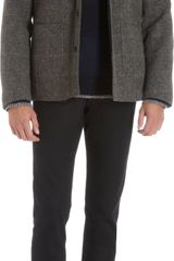 Rag & Bone Removable Shearling Lining Check Jacket - Lyst