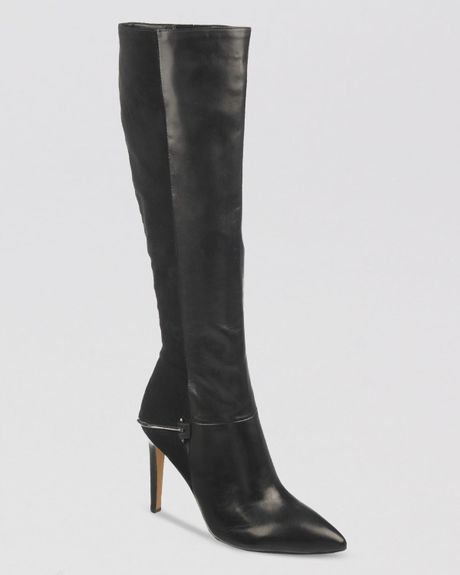 Sam Edelman Tall Dress Boots Mazie High Heel In Black