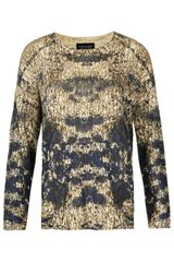 Topshop Knitted Graphic Print Jumper - Lyst