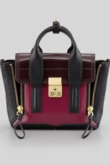 3.1 Phillip Lim Pashli Mini Leather Satchel Bag Black-oxblood - Lyst