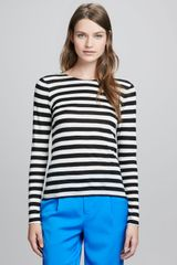 Alice + Olivia Longsleeve Striped Top Alice Olivia - Lyst