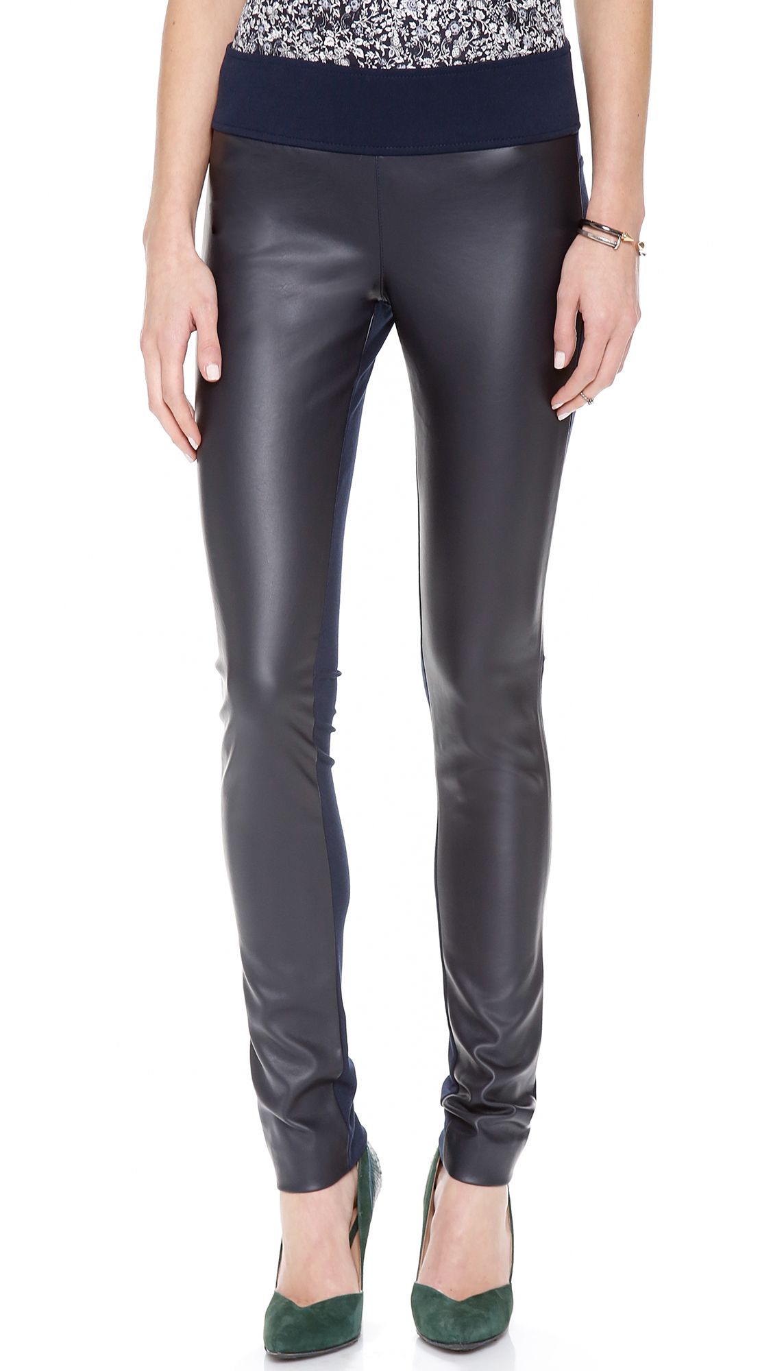 873304d28151d Lyst - Club Monaco Tasha Leggings in Black