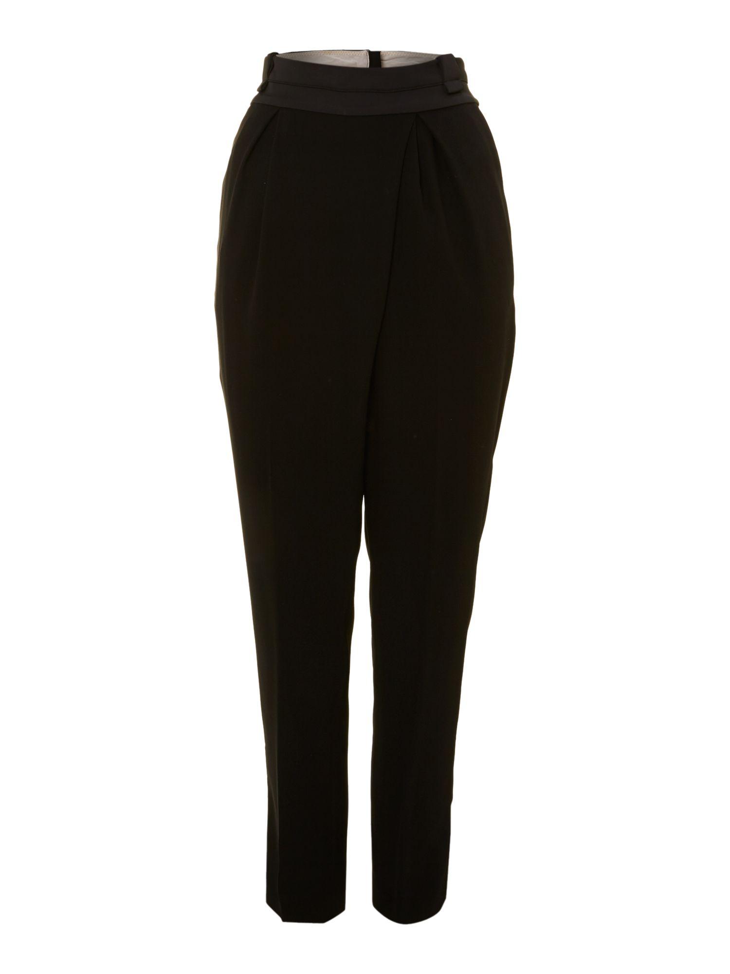 lyst day birger et mikkelsen day gabardine trousers in black. Black Bedroom Furniture Sets. Home Design Ideas