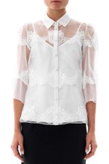 Dolce & Gabbana Lace and Silkorganza Blouse - Lyst