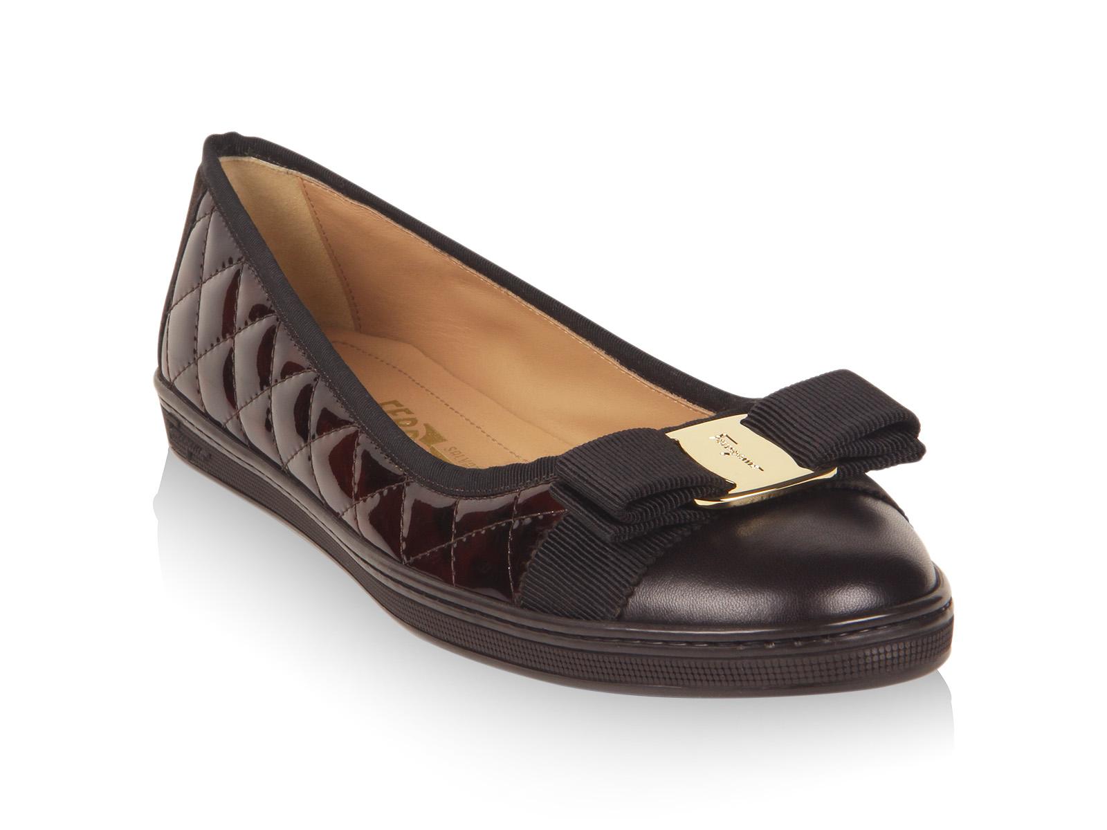 Lyst Ferragamo Ballerina Sneaker In Brown