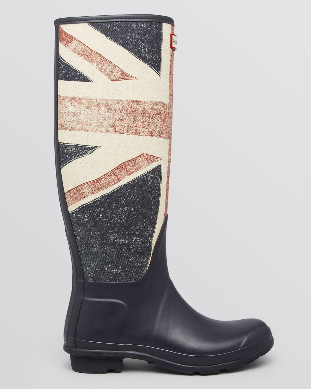 Hunter Rainboots British Flag in Blue | Lyst