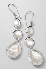 Ippolita Stella 3drop Earrings in Mother-of-pearl Diamonds - Lyst