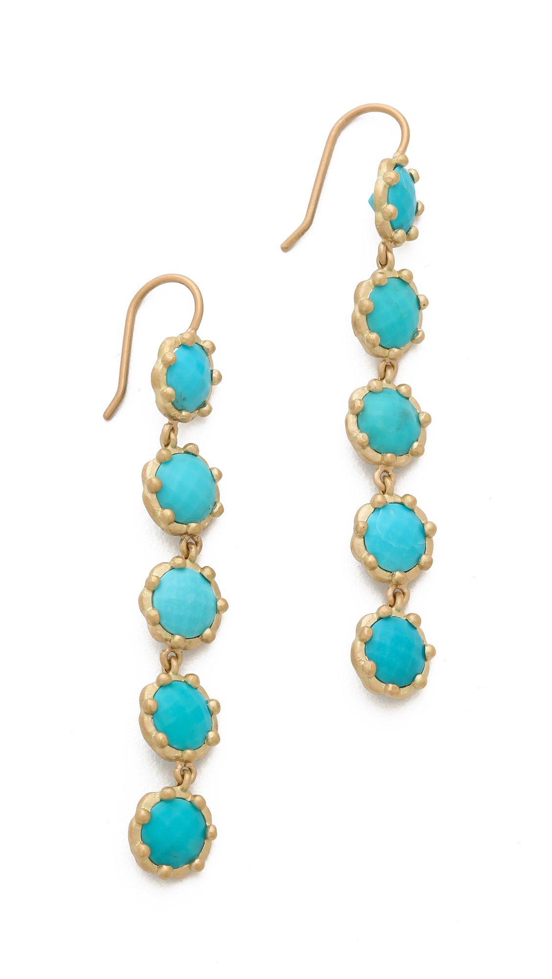 jamie wolf tiered turquoise earrings gold in metallic lyst. Black Bedroom Furniture Sets. Home Design Ideas