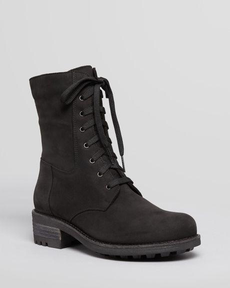 la canadienne lace up boots carolina in black lyst