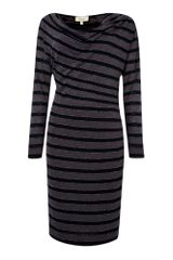Linea Weekend Cowl Neck Lurex Stripe Dress - Lyst