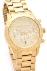 Michael Kors Layton Chronograph Watch - Lyst