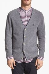 Original Penguin Lambswool Cardigan - Lyst