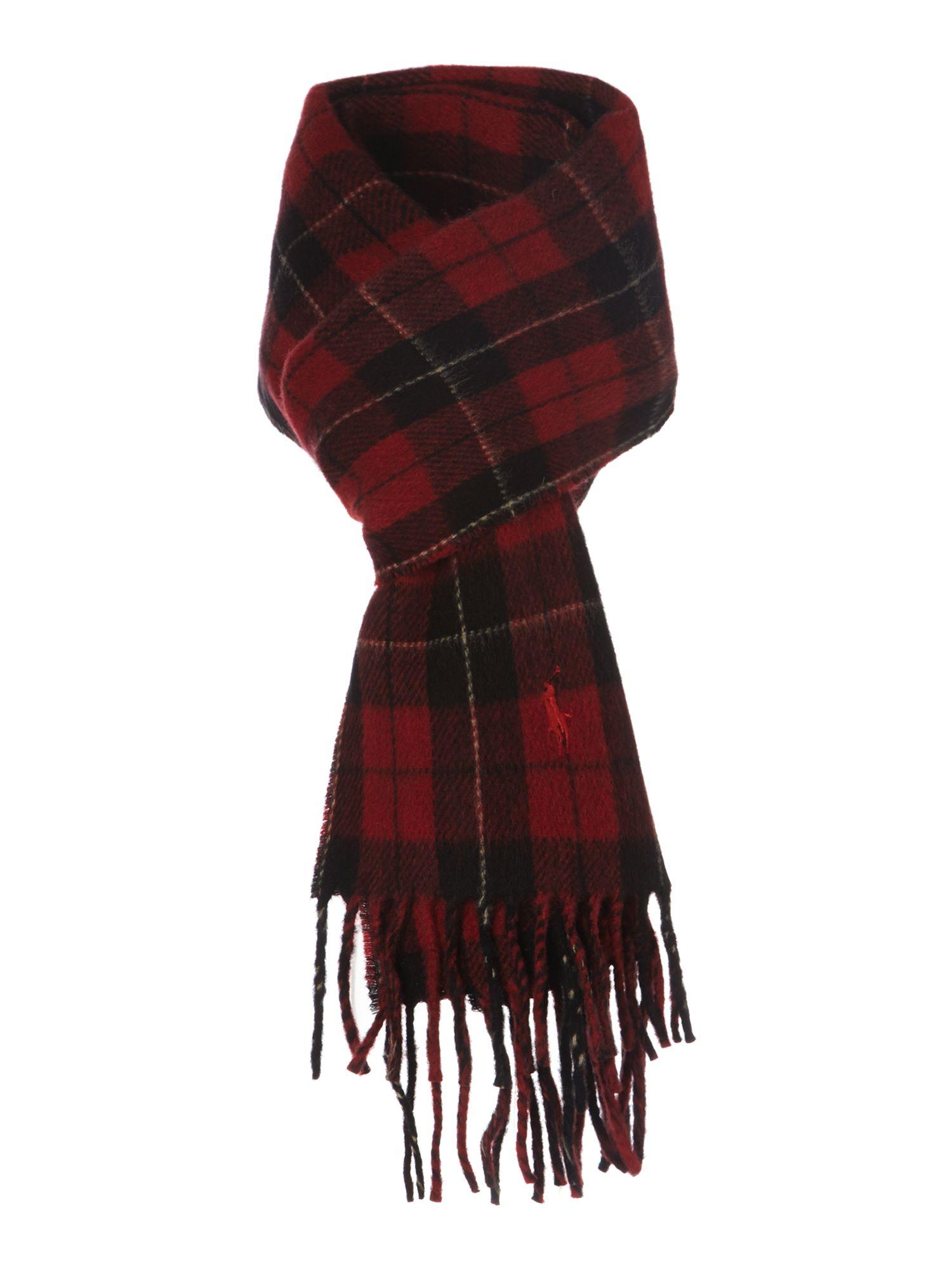 polo ralph tartan scarf in for lyst