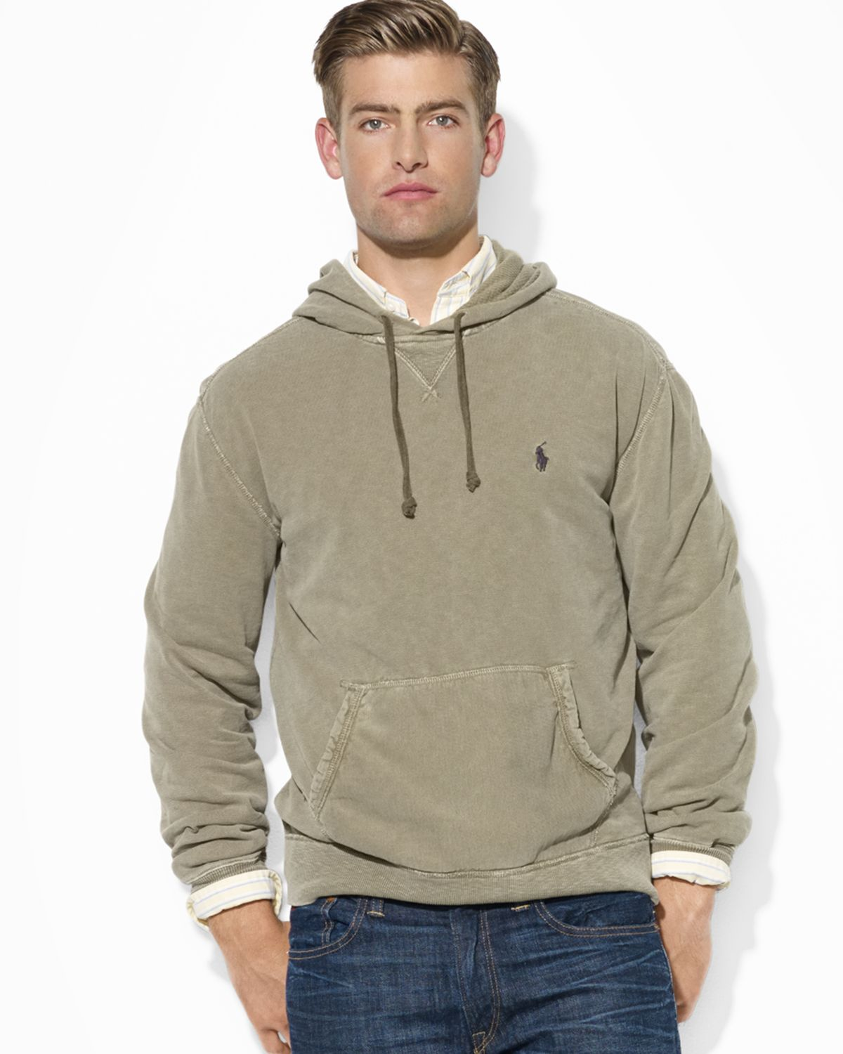 3a36e684aca0 ... order lyst ralph lauren polo patina french terry pullover hoodie in  1adcc 7ba36