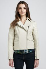Rebecca Minkoff Saturn Leather Motorcycle Jacket - Lyst