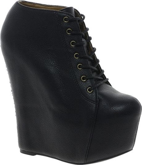 aldo mckever wedge boot in black black98 lyst