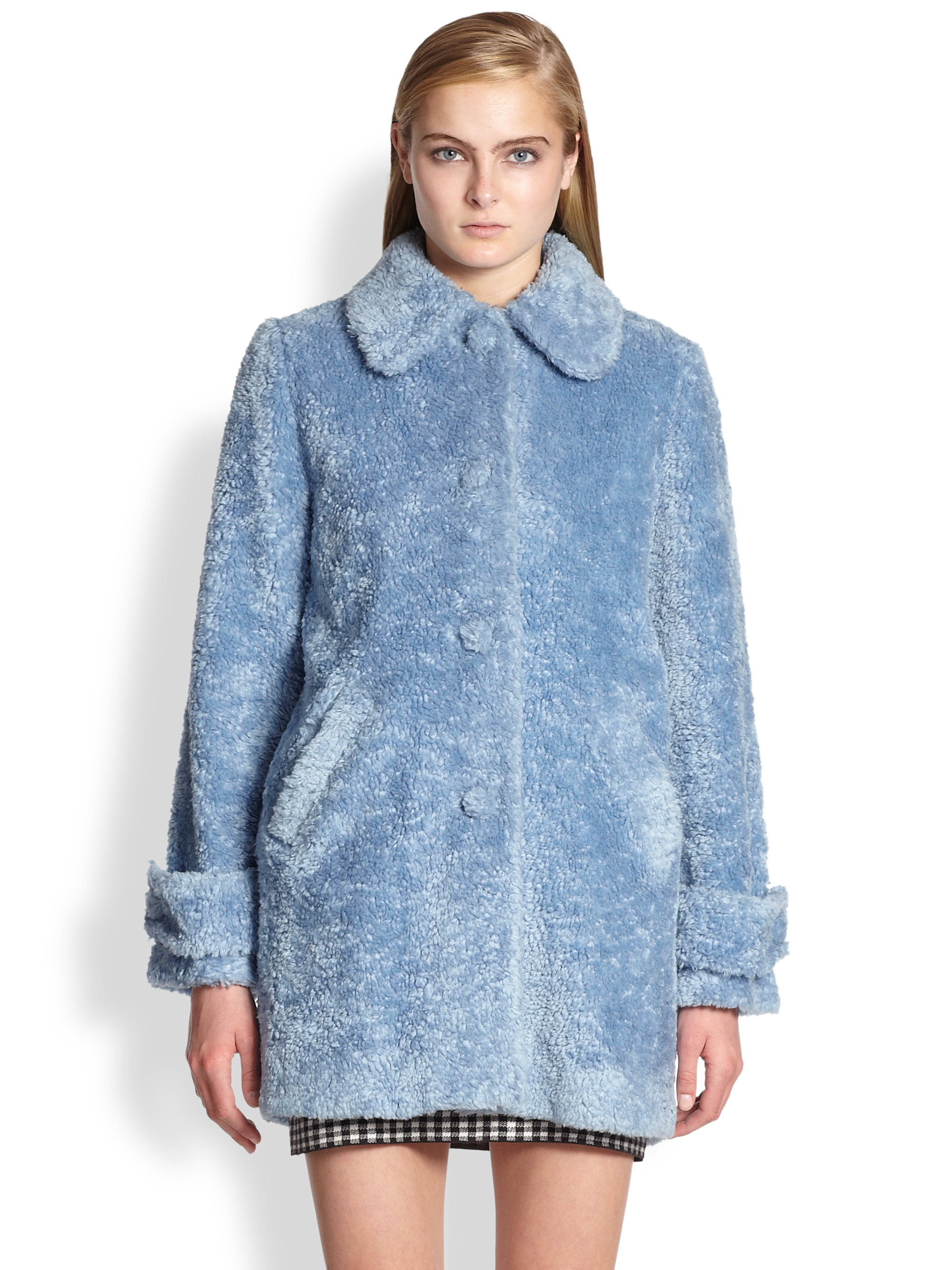 Lyst Opening Ceremony Faux Fur Coat