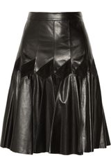 Derek Lam Pleated Leather Skirt - Lyst