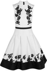 Erdem Green Carpet Challenge Macey Embroidered Duchessesatin Dress - Lyst