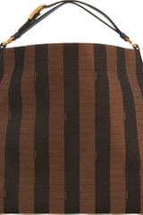 Fendi Pequin Stripe Hobo Bag - Lyst