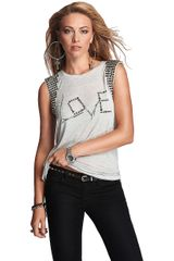 Guess Love Hurts Sleeveless T-Shirt - Lyst