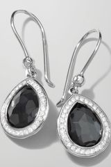 Ippolita Stella Teardrop Earrings in Hematite Diamonds 28mm - Lyst
