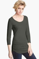 James Perse Skinny Ruched Baseball Tee - Lyst