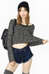 Nasty Gal Strapped Crop Knit - Lyst