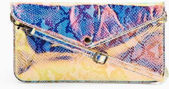 Nasty Gal Cobra Hologram Envelope Clutch - Lyst