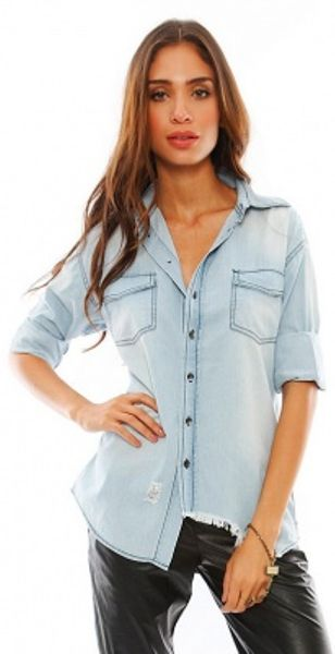 One Teaspoon Denim Shirt One Teaspoon Liberty Shirt in