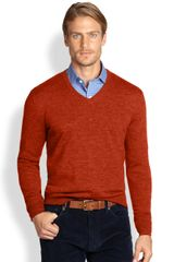 Polo Ralph Lauren Merino Wool Vneck Sweater - Lyst
