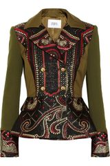 Prabal Gurung Metallic Brocade and Stretchwool Peplum Jacket - Lyst