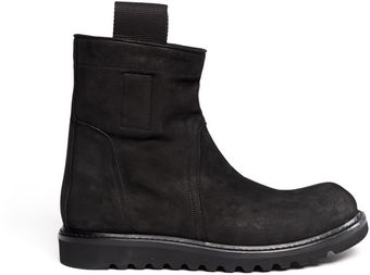 Rick Owens Pullon Leather Boots - Lyst