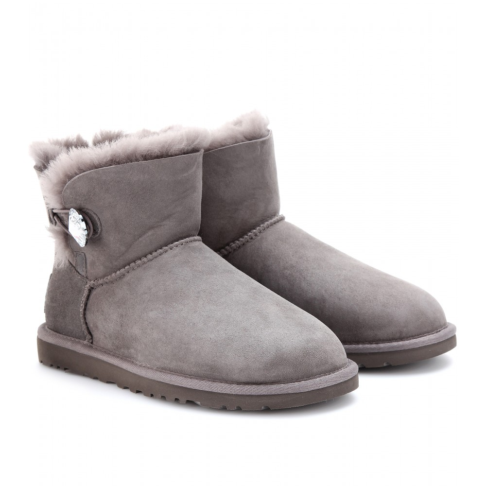 ugg mini bailey bling boots in gray grey lyst