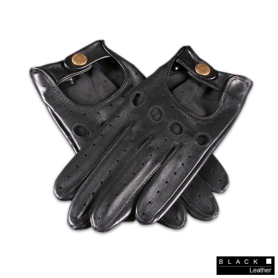 Best mens leather gloves uk -  Men Black Leather Gloves Black Driving Gloves Gloves