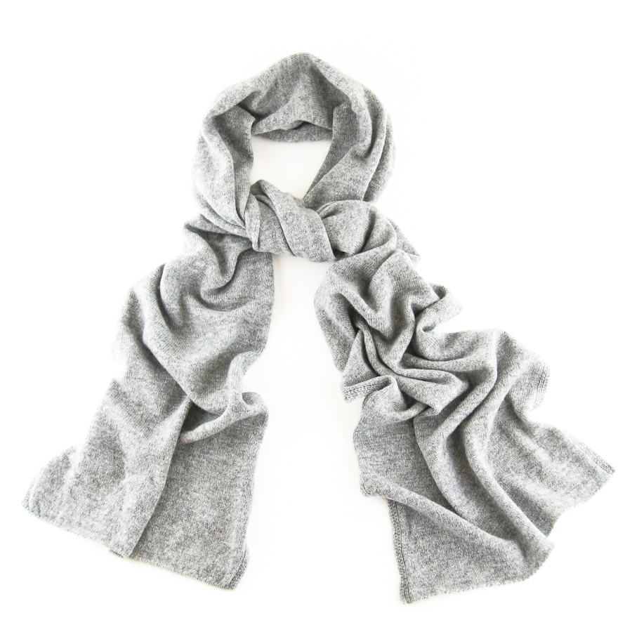 Black.co.uk Classic Grey Fine Knit Cashmere Scarf Description ...