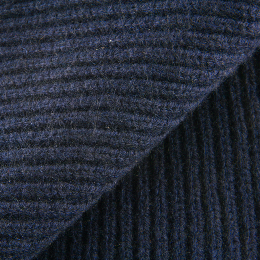 Knitting Patterns Cashmere Wool : Black.co.uk Navy Blue Knitted Cashmere Scarf in Blue for Men Lyst