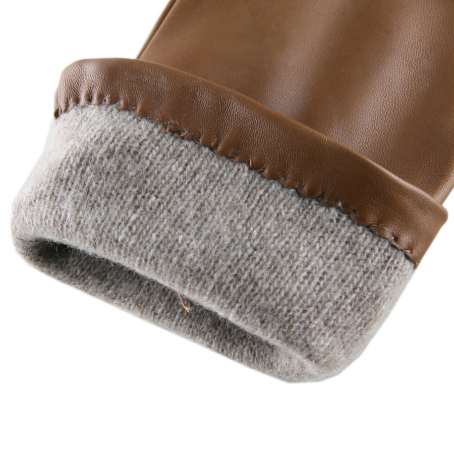 Black leather gloves lined with cashmere - Leather Gloves With Cashmere Lining Best 2017