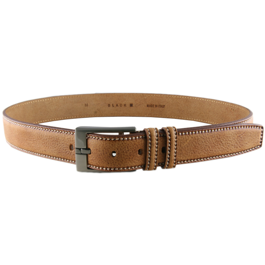 black co uk speckled leather belt with saddle stitch