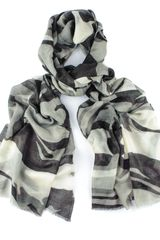 Black.co.uk Camouflage Print Cashmere Scarf - Lyst