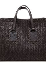 Bottega Veneta Embroidered Intrecciato Leather Tote Bag - Lyst