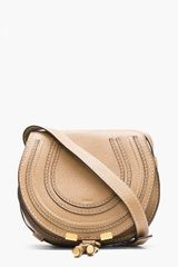 Chloé Nut Brown Leather Small Marci Shoulder Bag - Lyst